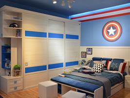 靠墙主题单床