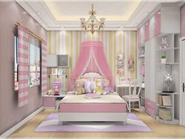 公主式居中单床