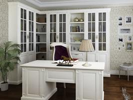 独立书柜+书桌
